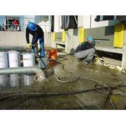 Герметизация подвижных подземных и подводных швов высокоэластичными полиуретановами материалами. Инъекция устройство новой гидроизоляции и ремонт существующей фото