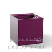 Умный вазон Cubico Flower Lover 27x27x27 глянцевый PLASTKON Пурпурный фото