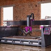 ЧПУ (CNC) окантовочный станок с фрезеровкой 5 осей фото