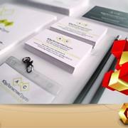 Разработка фирменного стиля и печать брендированной продукции (логотип, бланки, папки, блокноты, блоки для записи, пакеты, ручки) фото