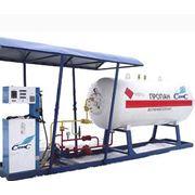 Монтаж модульных газовых станций (газовые колонки) фото