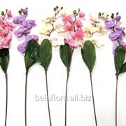"""Цветок искусственный """"Орхидея ветка с листом КР70011"""", микс цветов фото"""