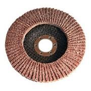 Круг лепестковый торцевой Р100 125х22мм фото