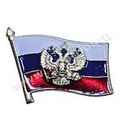 """Знак фрачный """"Флаг России с гербом"""" фото"""
