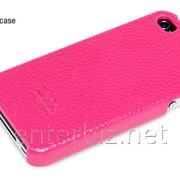Чехол Hoco for iPhone 4/4S Duke Back Leather case Rose Red (HI-BL001RR), код 46330 фото