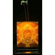 Сувенир голографический с подсветкой настольный Жировичская Икона Божией Матери фото