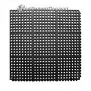 Модульное резиновое грязезащитное покрытие. фото