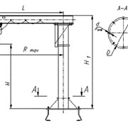 Консольные краны используются для выполнения грузоподъемных работ в цехах промышленных предприятий, на складах, строительных площадках. фото