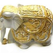 """Скульптура """"Слон индийский"""" Л099 фото"""