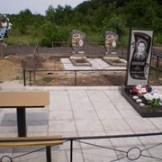 Благоустройство мест захоронений. фото