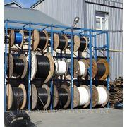 Стеллажные системы для хранения КПП на барабанах (отмотка со стеллажа) фотография