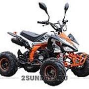 Квадроцикл подростковый MOTAX ATV T-Rex-7 125 сс бело-оранжевый фото
