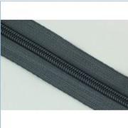 Молния рулонная обувная спираль №7 в ассортименте, темно-серая фото