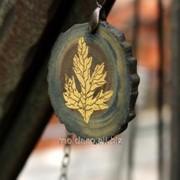 Бижутерия ручной работы SOLO Колье из дерева. фото