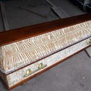 Гроб Флок-гофре полированный фото