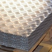 Алюминиевый лист рифленый от 1,2 до 4мм, резка в размер. Гладкий лист от 0,5 мм. Доставка по всей области. Арт-110 фото