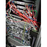 Монтаж сетей передачи данных фото
