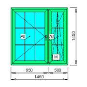 Расчёт цен пластикового окна с декоративной раскладкой фото
