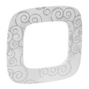 Рамка 1-постовая Valena Allure Нарцисс хром 754341 фото
