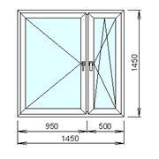 Расчёт цены пластикового окна с двухкамерным стеклопакетом фото