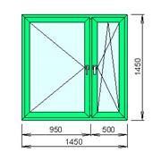 Расчёт цены пластикового окна (декор под дерево с обеих сторон) фото