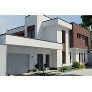 Дизайн фасада частного жилого дома фото