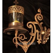 Лампада на кронштейне под свечу патинирование фото