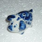 Скульптура Свинка Гжель фото