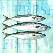 Салфетка для декупажа Свежая рыба фото