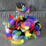 Перья цветные 5-9 см 100 шт 3661 фото