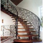 Лестницы кованые фото