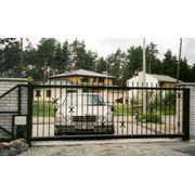Раздвижные ворота фото
