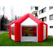 Классическая надувная палатка фото