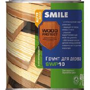 Грунт для дерева антисептирующий SMILE WOOD PROTECT SWP 10 фото