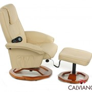 Кресло массаж + пуф массаж TV Calviano (бежевое) круг фото