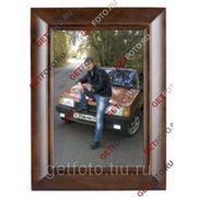 Деревянная фоторамка 30х40, рамка для фотографии, картины, CLASSIC PLAIN, картинный багет GF 2658 фото