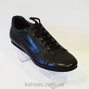 Мужские черные туфли Badura 2496 фото