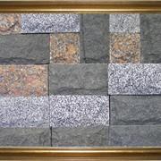 Плитка из природного камня габбро, гранит колотая, пиленная, термообработанная фото