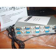 VGA сплиттер 8 порт 220 В 150MHz splitter усилитель активный фото