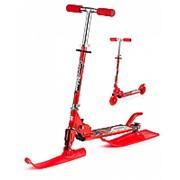 Самокат с лыжами и колесами Small Rider Combo Runner красный фото