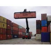 Погрузка - разгрузка контейнера фото