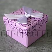 Коробка для ювелирных изделий сиреневая 5х5 см 5049 фото