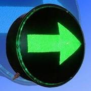 Noname Вкладыш зеленого свечения 300 мм стрелка правая питание 220В для лампового дорожного светофора арт. СцП23462 фото