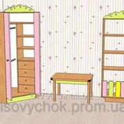 Шкаф детский угловой с декором! фото
