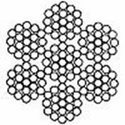 Канат стальной двойной свивки типа ТК ГОСТ 3067-88 6х19(1+6+12)+1х19 (1+6+12) фото