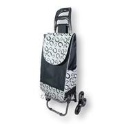 Хозяйственная сумка-тележка на 3-х колесах для подъема по ступенькам фото