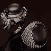 Кольца золотые золото 585° пробы, вставки - драгоценные камни фото