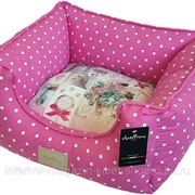 Лежак для животных Yolande розовый горошек, (принт на подушке) ANTEPRIMA фото