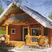Охотничьи домики деревянные, дома из оцилиндрованного бревна, брусовые дома фото