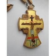 Крест наперсный (наградной c писаной иконой) №113a фото